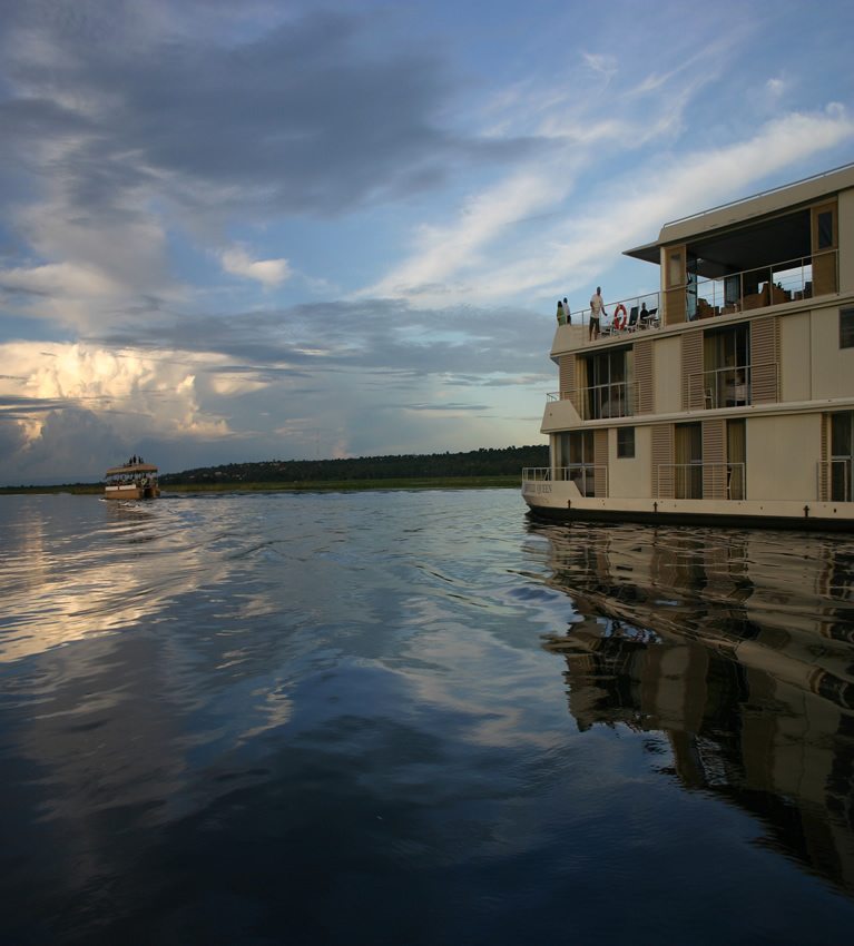 Zambezi Queen luxury houseboat, Chobe River, Botswana