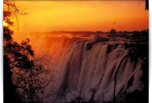 victoria-falls-at-sunset