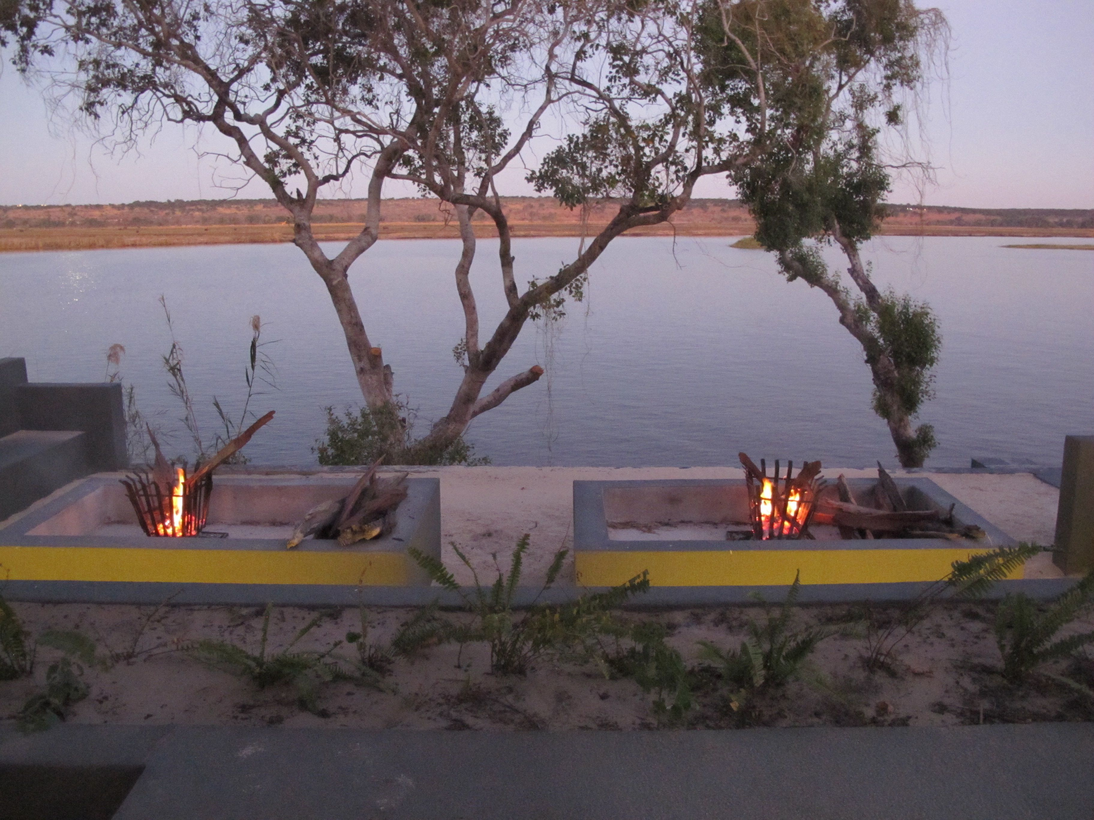 Chobe Water Villas fire pit_compressed