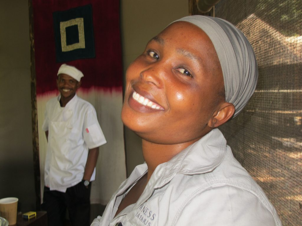 Chef and waitress at Xigera Camp, Okavango Delta