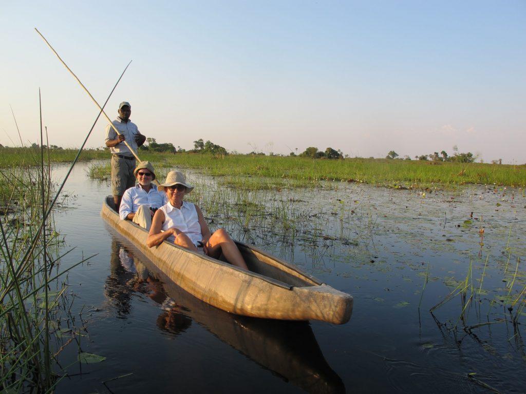 Mauro & Livia, Italian guests at Xigera Camp, Okavango Delta